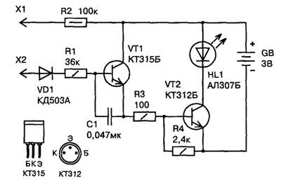 Электронные схемы - самодельные на светодиодах. http://zps-electronics...
