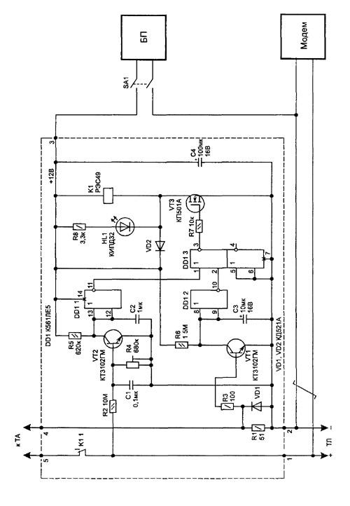 Электрическая схема телефонной